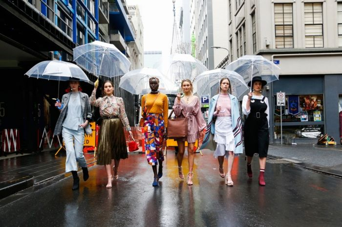 Front Row at Australia's Fashion Flash Mob, Melbourne Fashion Week