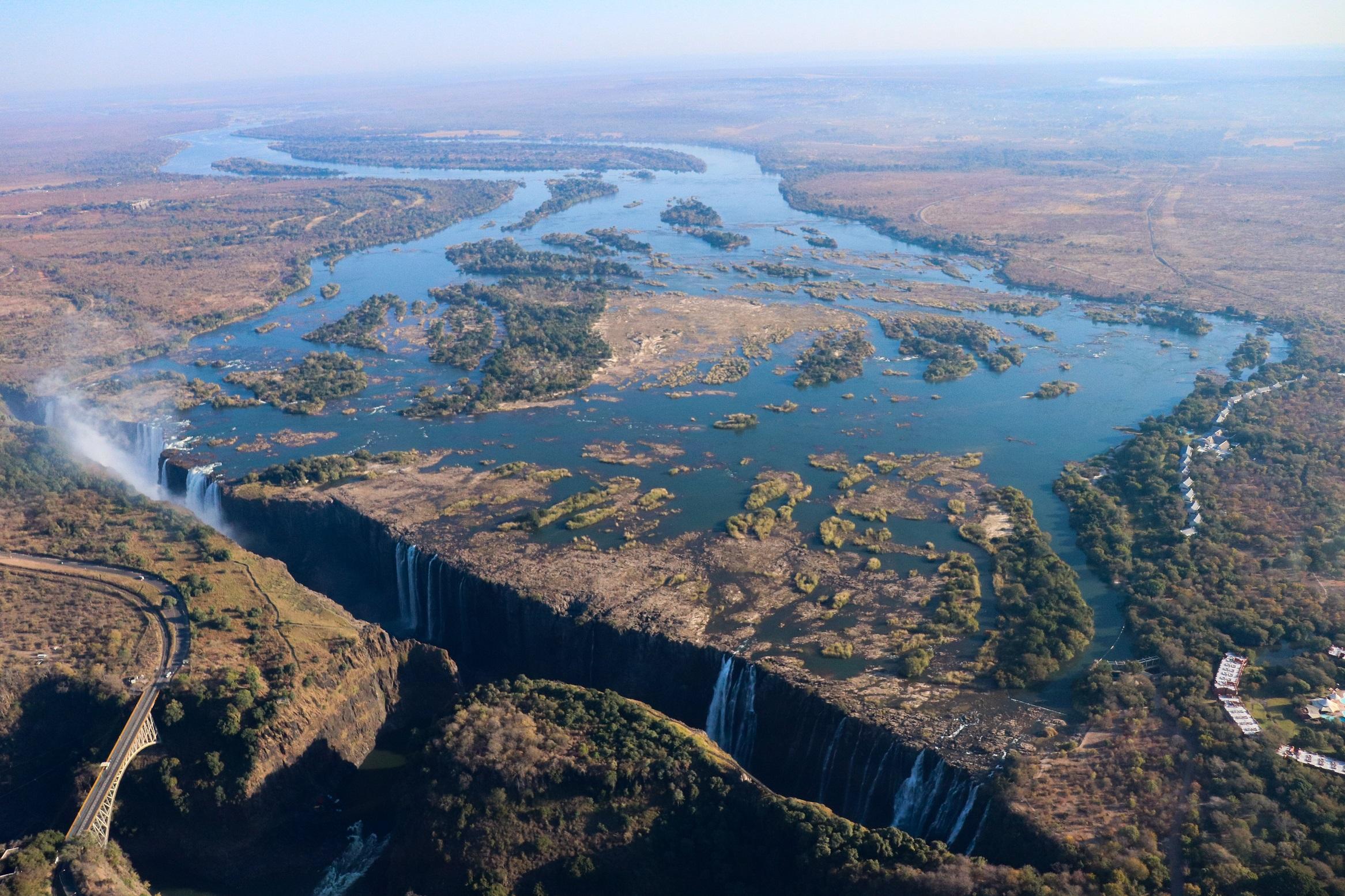 victoria falls, zimbabwe, waterfall