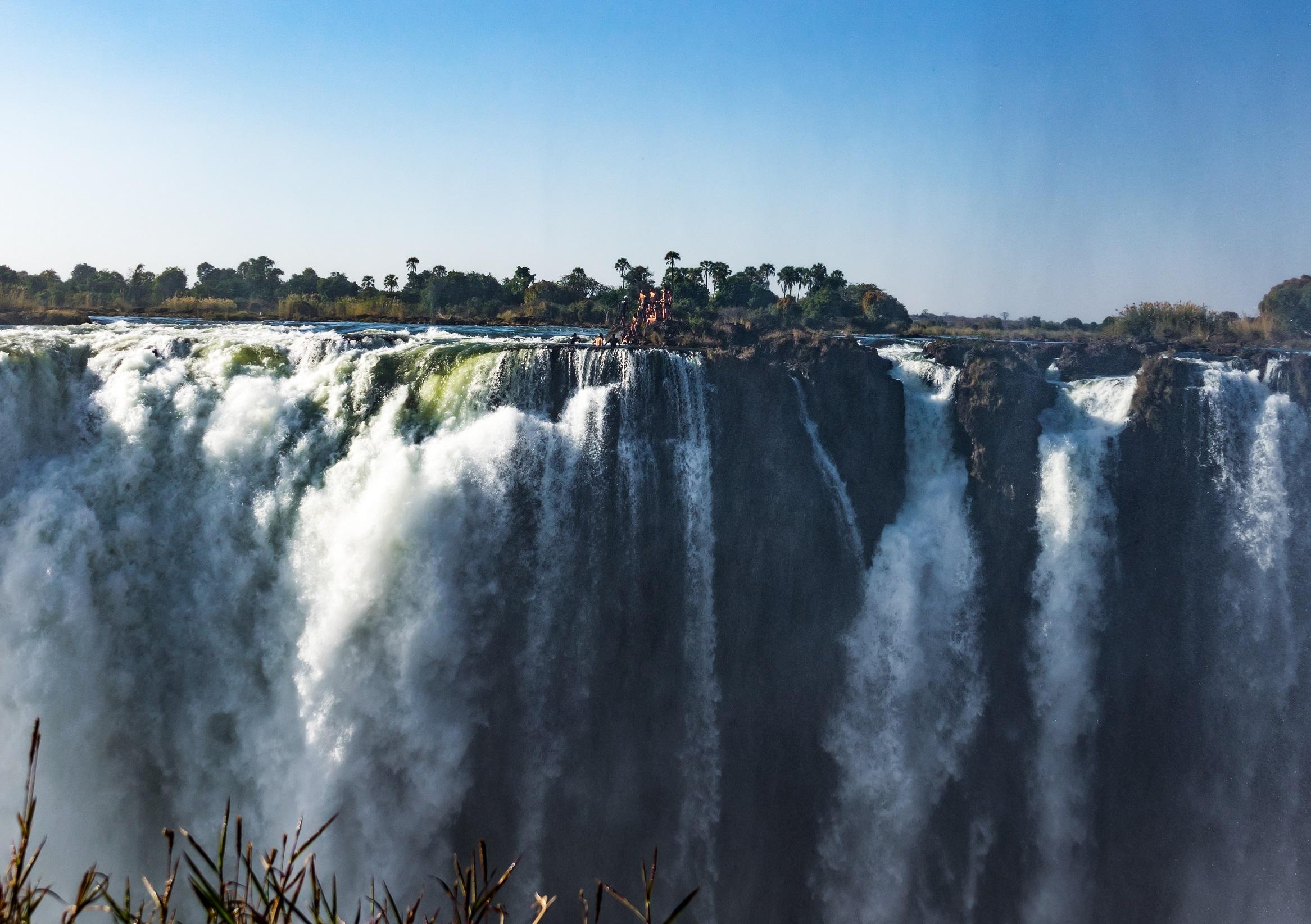 victoria falls, zimbabwe, waterfall, devils pool