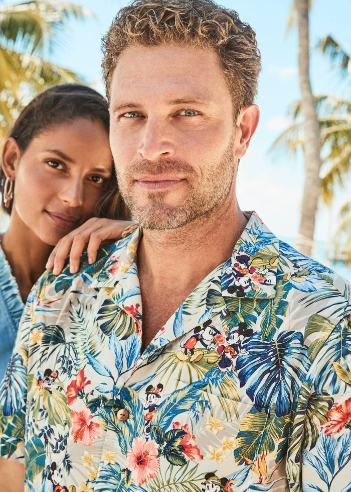 couple in island shirt