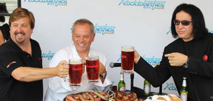 gene simmons and wolfgang puck Rocktoberfest 2012