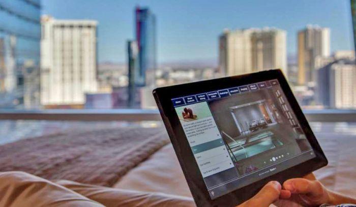 Aria Resort & Casino tablet