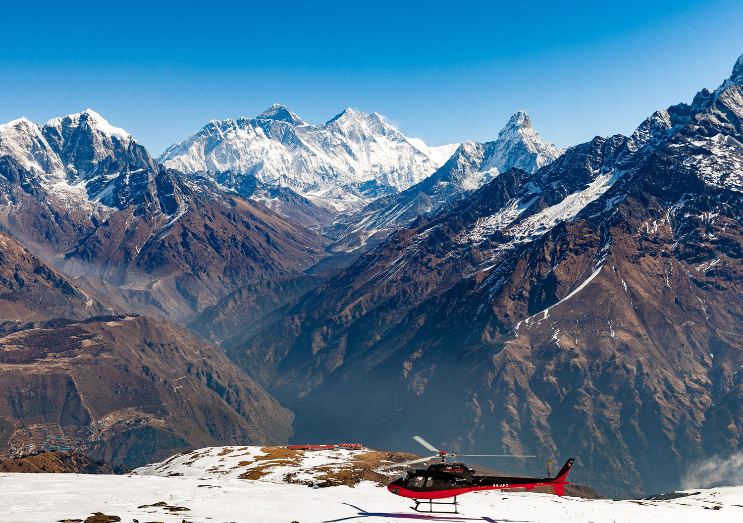 himalayas helicopter