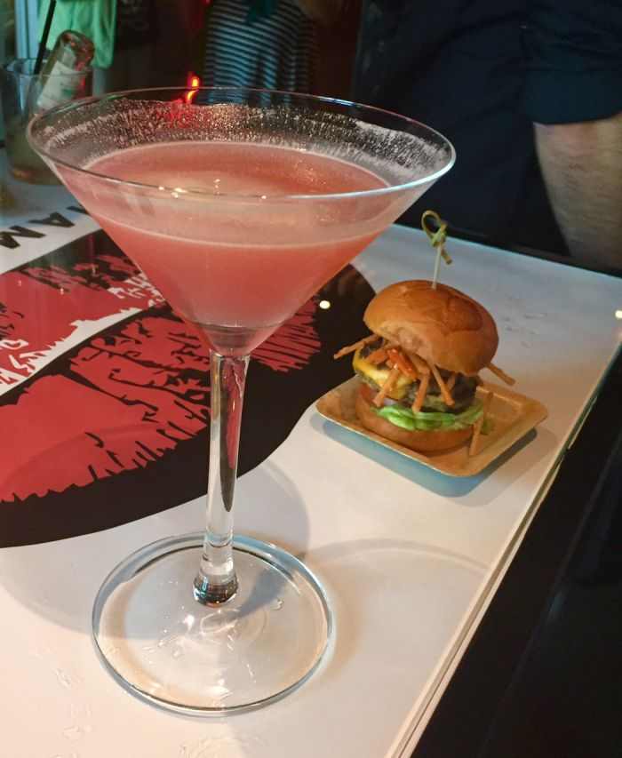 Cindy's Casa Burger with Rande Gerber's Spicy Margarita