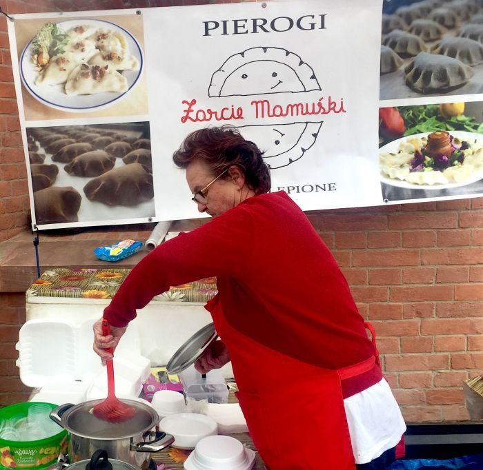 Perogi stand at Breakfast Market