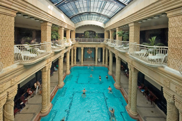 The beautiful indoor pool at Gellért.