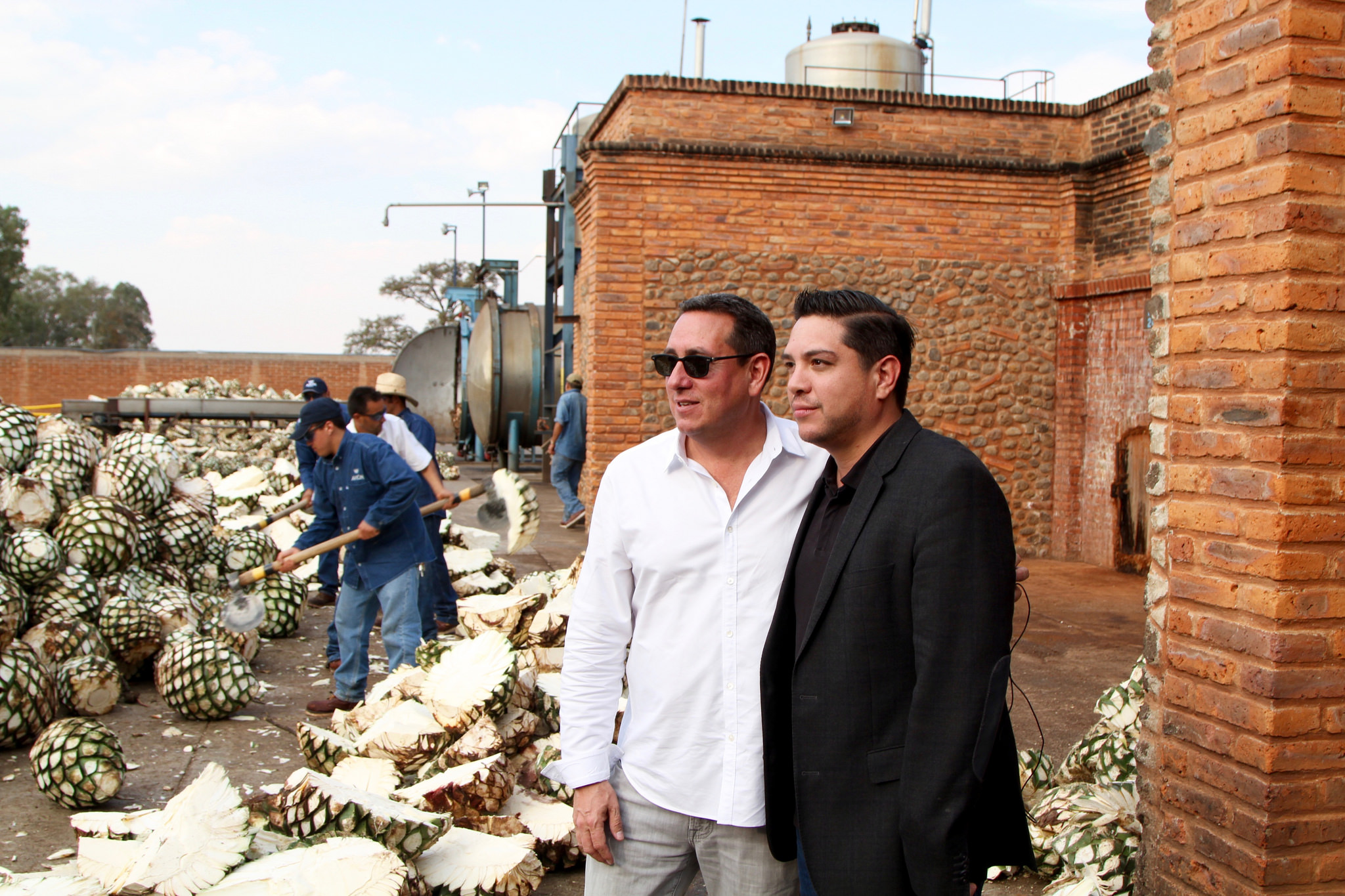 Avion's Ken Austin and distiller Alejandro Lopez
