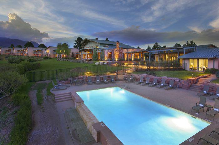 The resort atop a mesa