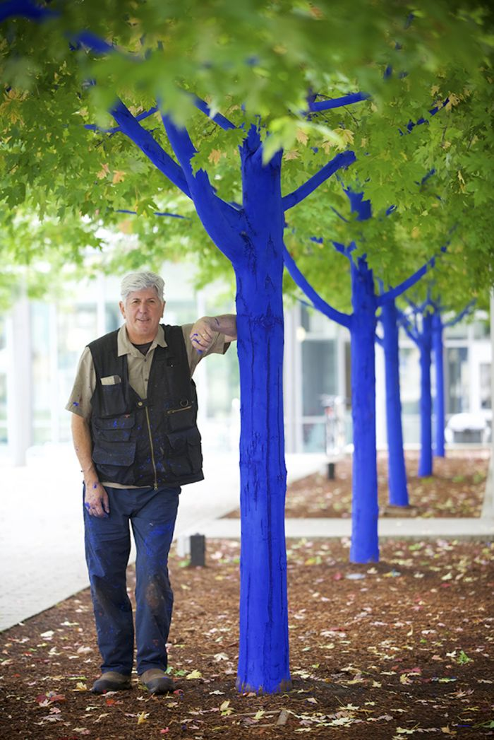 Konstantin with Blue Trees