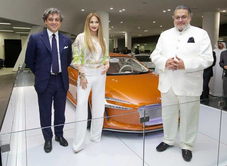 Jennifer Lopez at Audi Terminal Dubai