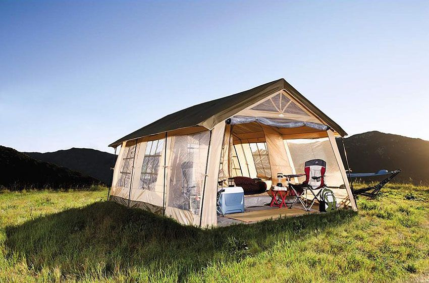 Northwest Territory Front Porch Tent & Take the Whole Family Glamping In This 3-Bedroom Northwest ...