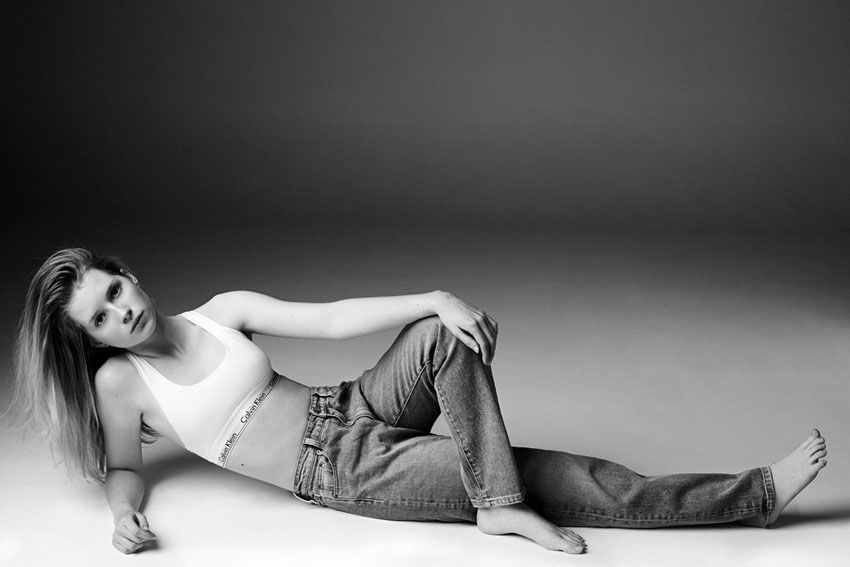 Calvin Klein Jeans x Mytheresa Lottie Moss