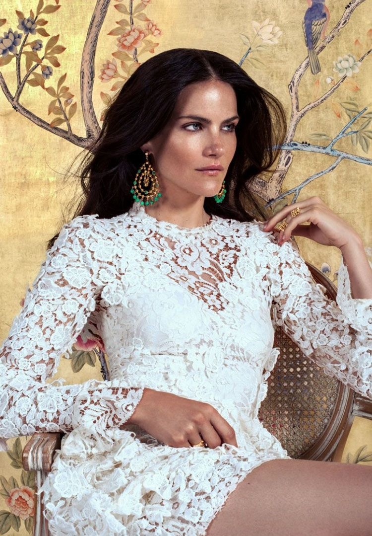 Missy Rayder Stuns In The Golden Spanish Inspired Campaign For Paula Mendoza