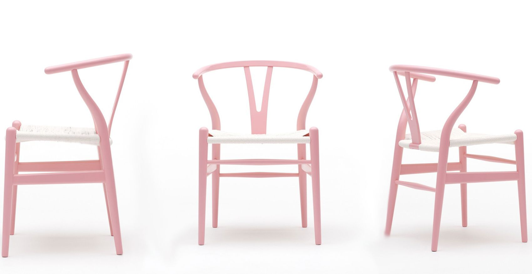 Pink Hans J. Wegner Wishbone Chair