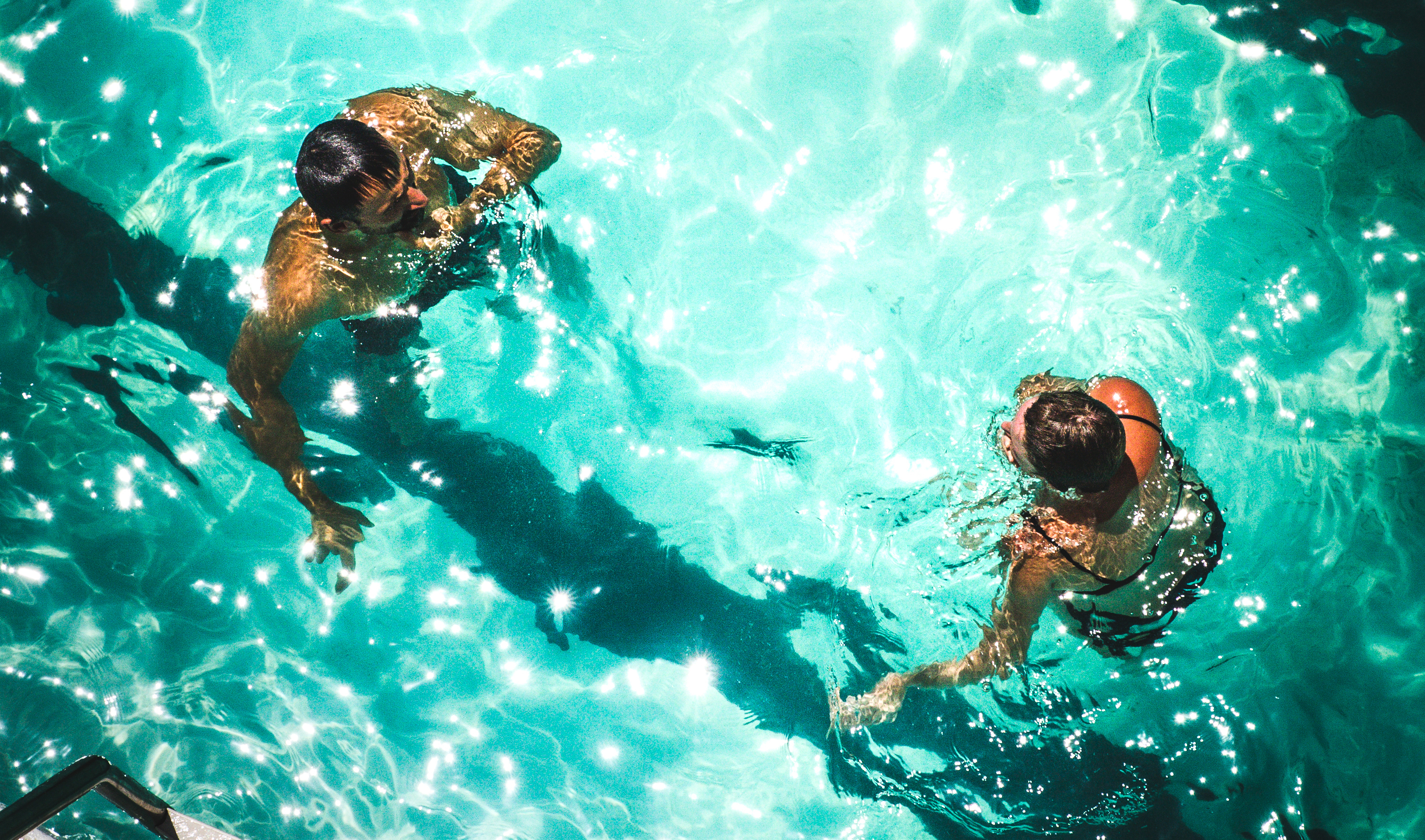 Adults in a Pool