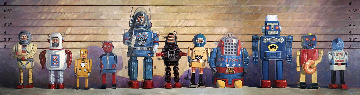 eric joyner usual suspects robot art