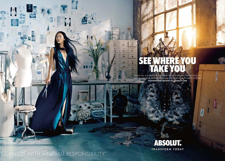 ABSOLUT transform today designers Yiqing Yin