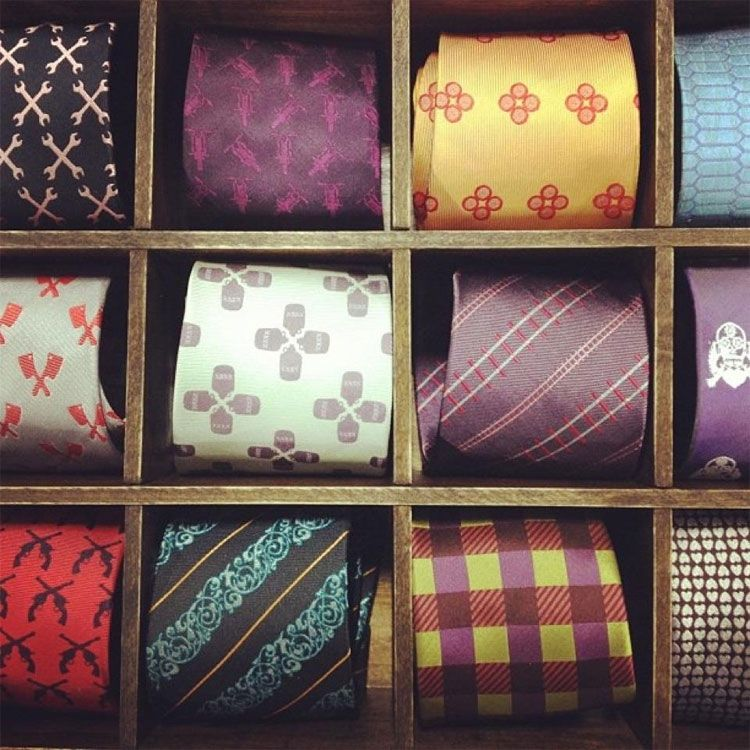 Artfully Disheveled Ties