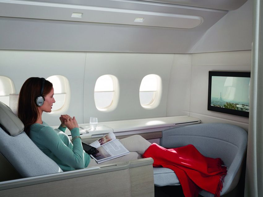 air france, La Première, first-class suites