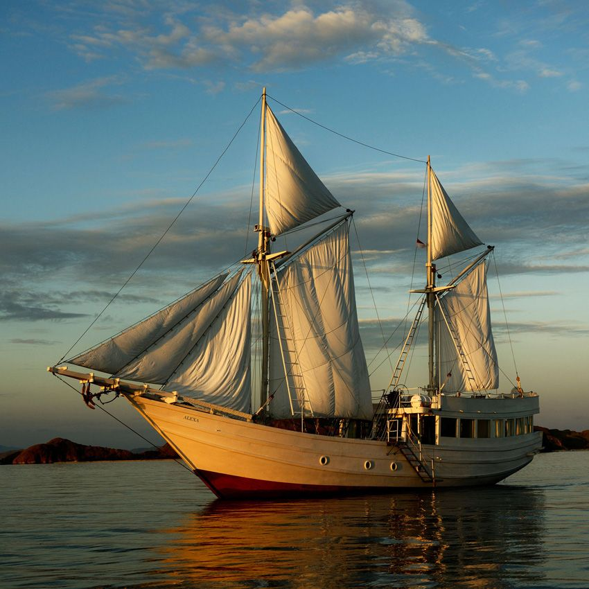 traditional Indonesian two-masted vessel