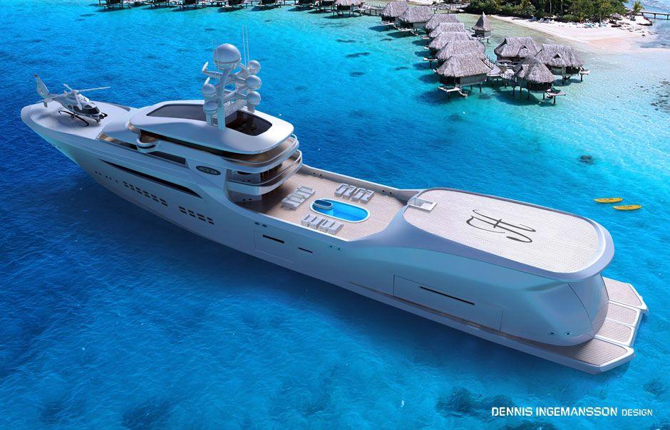 90m Arctic Sun , superyacht, Dennis Ingemansson