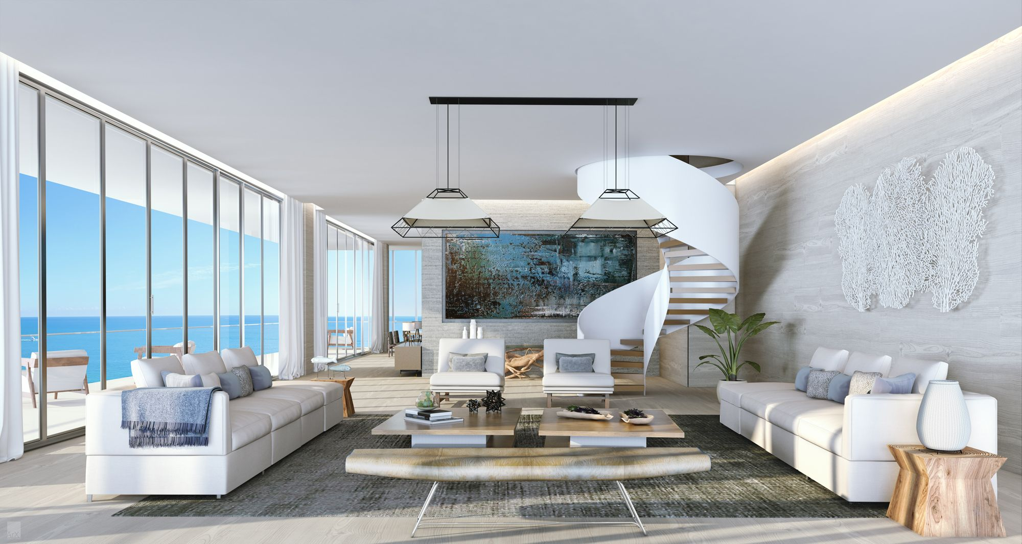 Lord over fort lauderdale from the auberge penthouse - Penthouse luxe missoni home ...