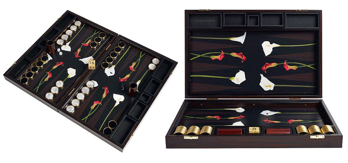 Alexandra Llewellyn backgammon board