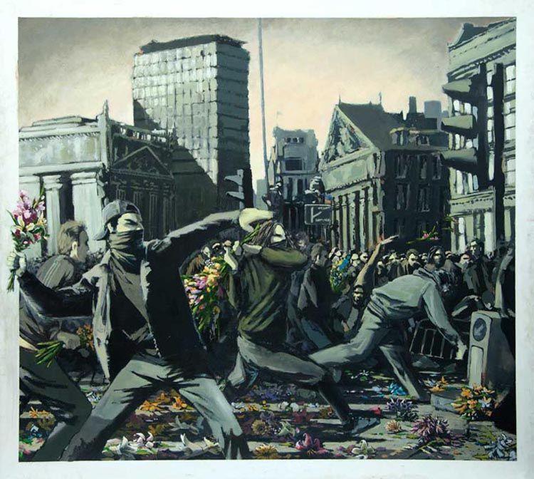 banksy riot