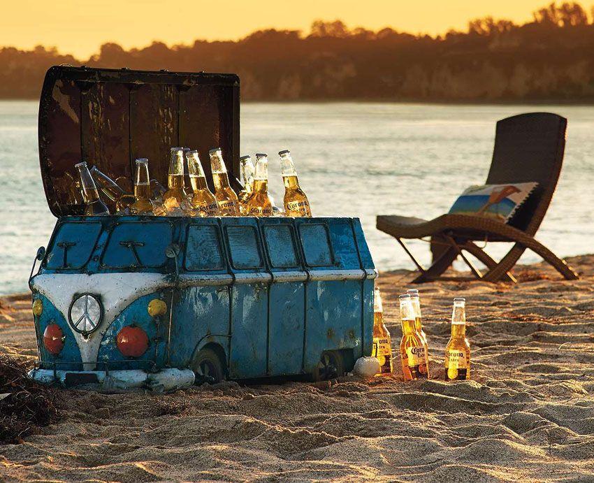 Vintage Van Beach Cooler