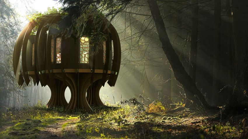 The Quiet Tree House,Quiet Mark,John Lewis,blue forest