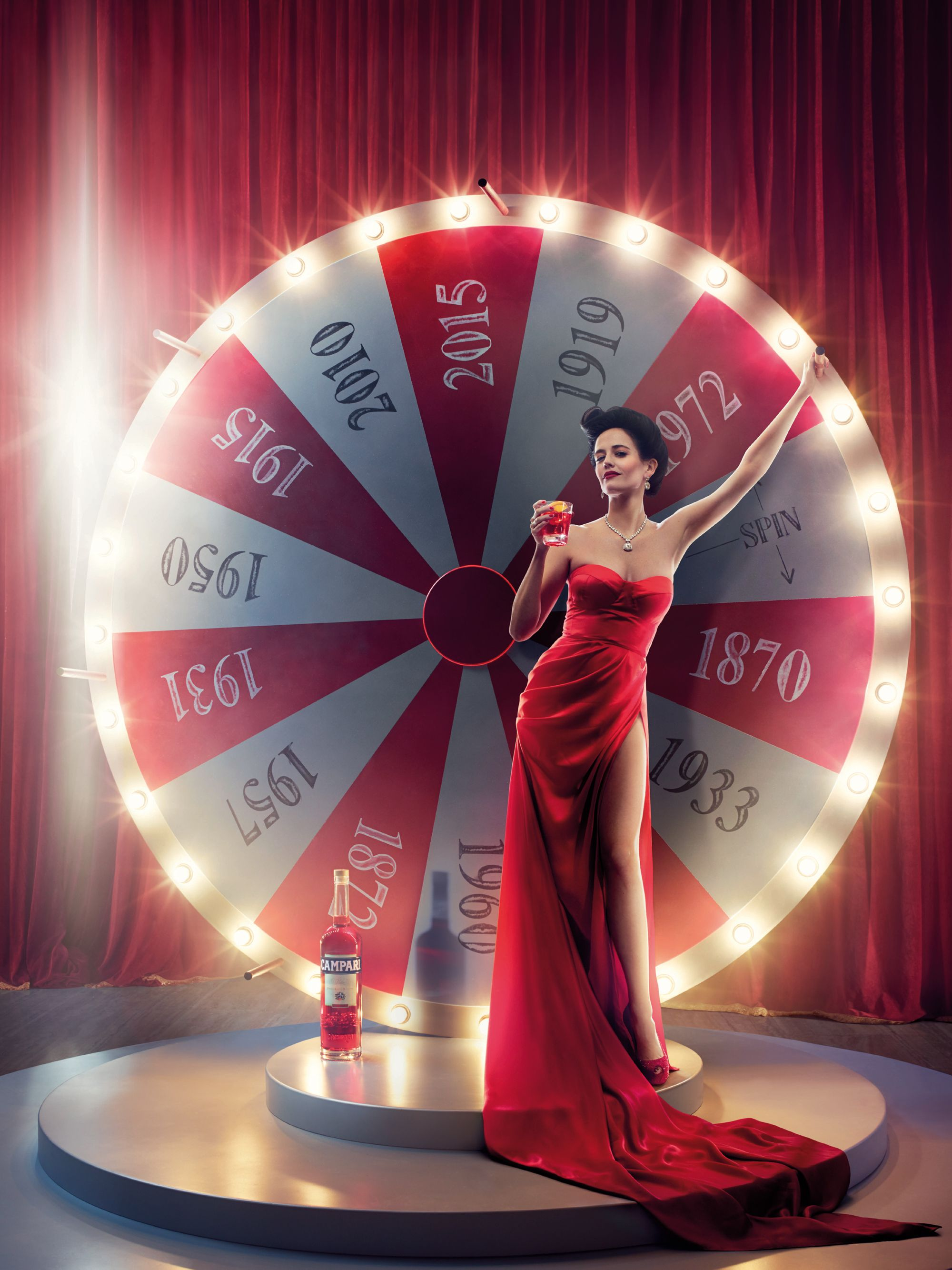 Campari's 2015 exclusive calendar, Eva Green