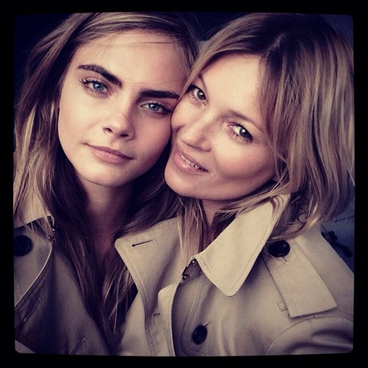 Kate Moss and Cara Delevingne Burberry