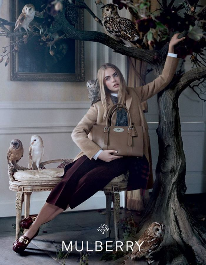 Cara Delevingne Is Mulberry's Muse for Fall 2013