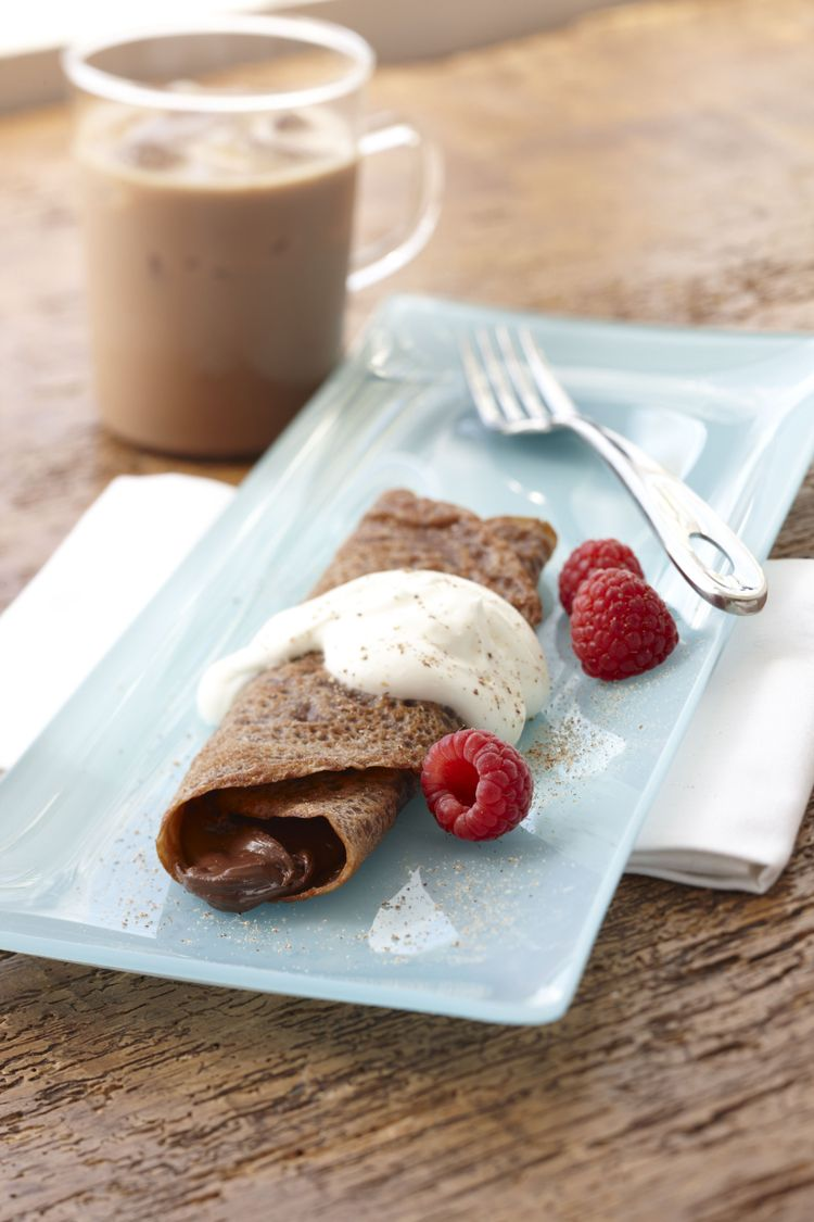 Chocolate Crepe with Cr?me Fraiche Recipe From Spice Islands