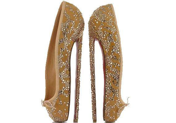 Christian Louboutin 8 inch ballet heels
