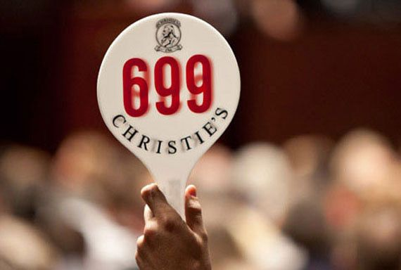 Christie's auction paddle