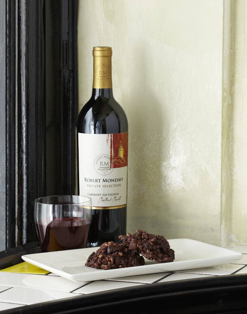 No-Bake Cabernet-Cherry-Chocolate Cookies recipe