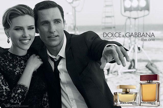 Scarlett Johansson and Matthew McConaughey Dolce & Gabanna