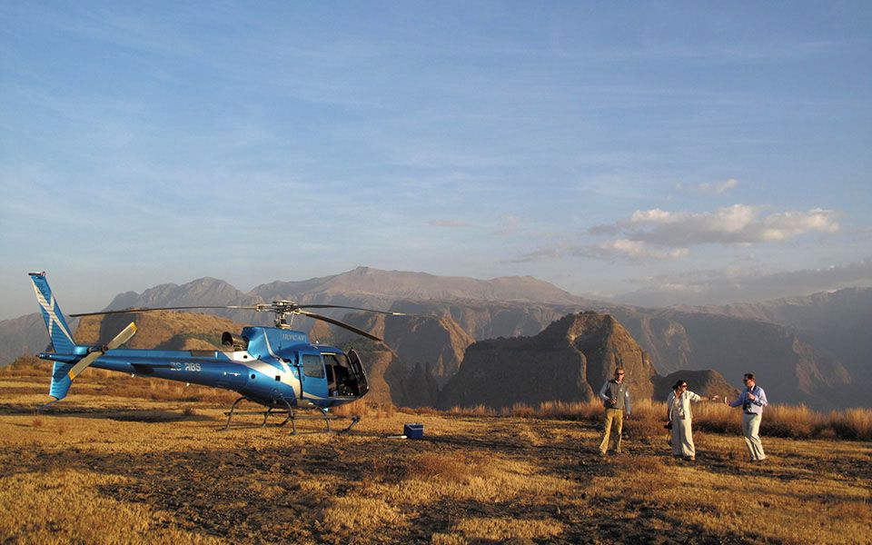 ethiopia by helipcopter