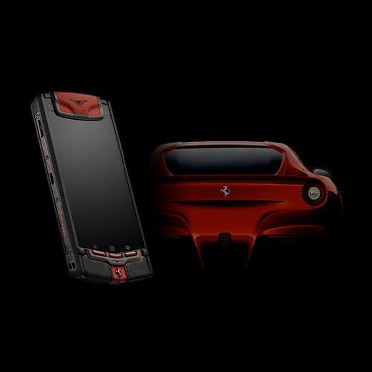 vertu and ferrari partner on an exclusive new smartphone