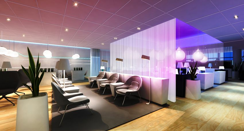 Finnair  premium lounge and sauna