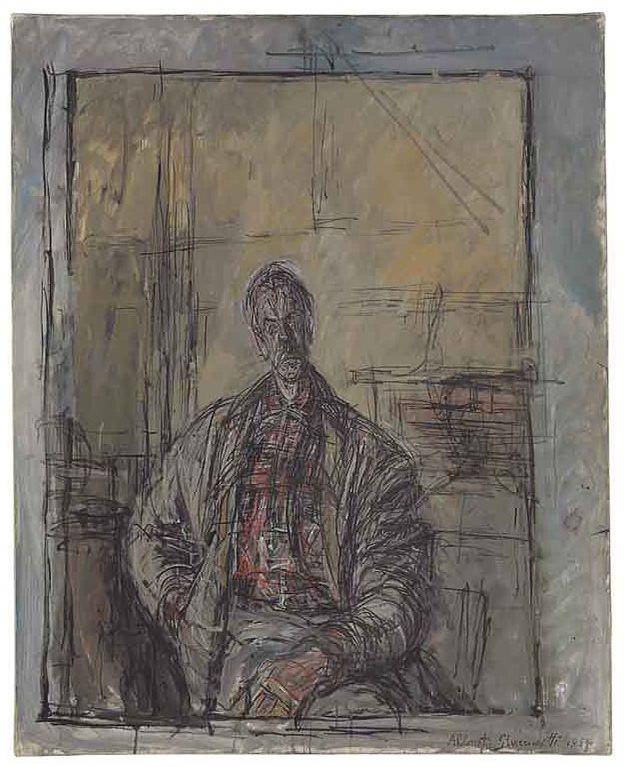 Alberto Giacometti 1954  Diego en chemise ecossaise