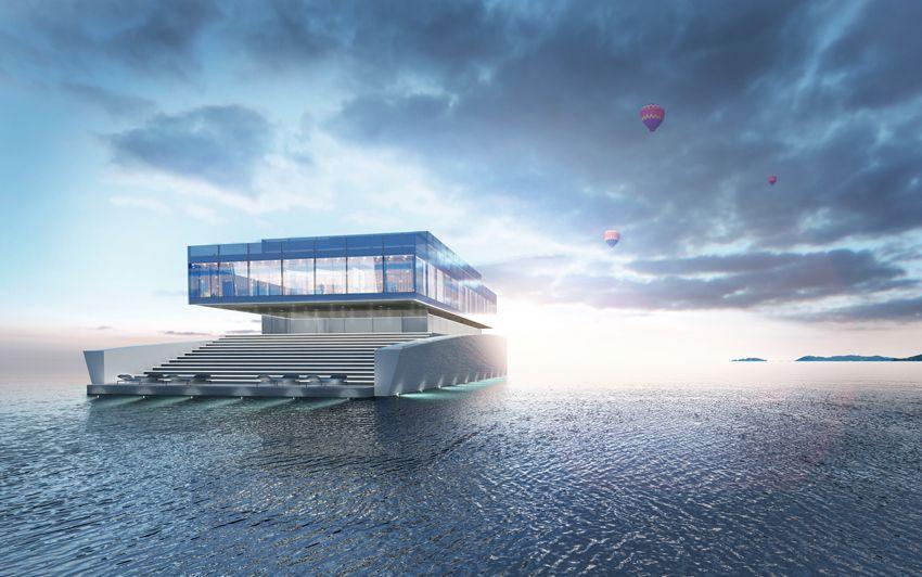 Lujac Desautel,glass megayacht concept