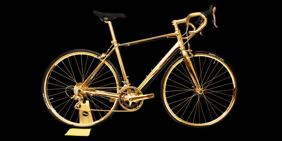 goldgenie, gold bike