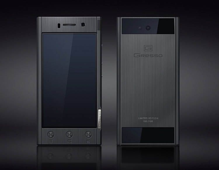 Gresso Radical Black Collection smartphone