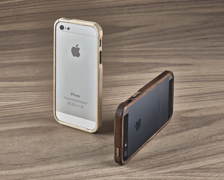 World's First All Wood Bumper iPhone Case