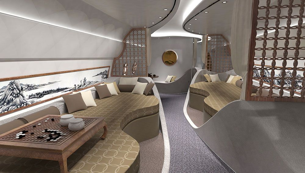 These Private Jet Concepts Bring Feng Shui And Sushi Bars To The Sky