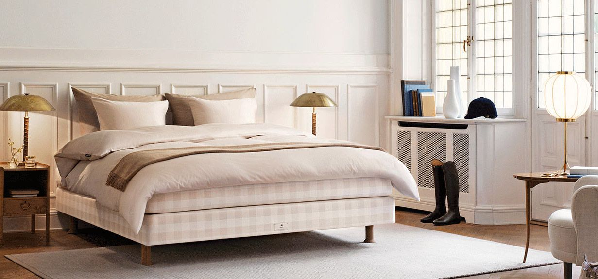 Hästens the hästens stockholm white bed flaunts some serious scandinavian flair