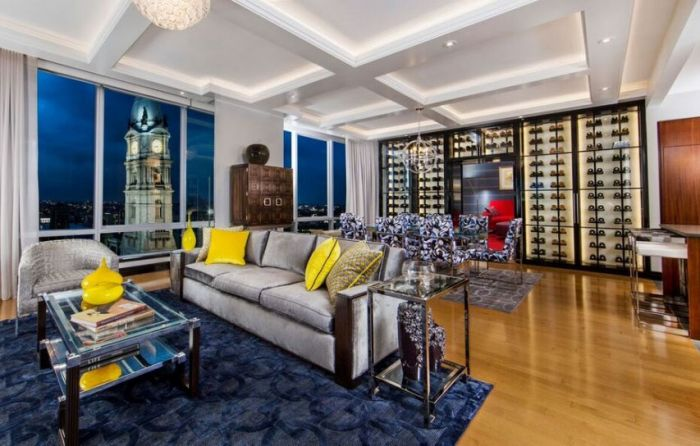 Philly 39 s hottest condo is a wine lover 39 s retreat for Interior design 75063