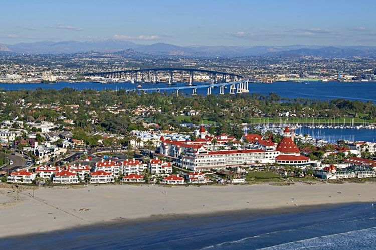 Hotel del Coronado aerial view